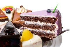 Часть торта голубики Стоковое фото RF
