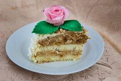 Часть торта губки стоковая фотография rf