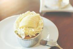 Часть торта дуриана Стоковая Фотография