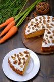 Часть торта моркови Стоковая Фотография