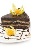 Часть торта на плите Стоковое фото RF