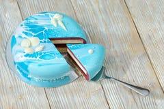 Часть торта ягоды на лопаткоулавливателе cace Стоковые Фотографии RF