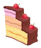 Часть торта бесплатная иллюстрация