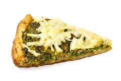 Часть традиционного греческого пирога шпината с козий сыром Стоковое Изображение
