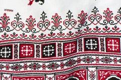 Часть традиционной украинской вышивки Стоковое Фото