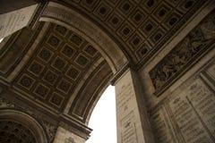 Часть триумфального свода Франции Парижа Стоковое Изображение
