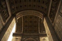 Часть триумфального свода Франции Парижа Стоковые Фотографии RF