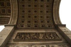 Часть триумфального свода Франции Парижа Стоковое Фото