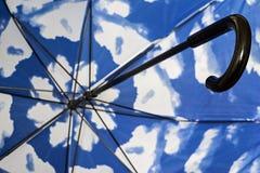 Часть тросточки зонтика изнутри крупного плана Стоковое фото RF