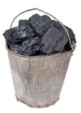Часть угля в ведре стоковая фотография