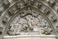 Часть украшения собора Стоковое Фото