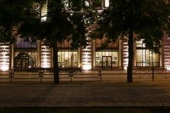 Часть улицы города на ноче стоковое изображение rf