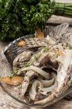 Часть душистых зажаренных в духовке рыб Стоковое Изображение RF