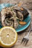 Часть душистых зажаренных в духовке рыб Стоковая Фотография RF