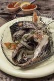 Часть душистых зажаренных в духовке рыб Стоковое Изображение