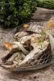 Часть душистых зажаренных в духовке рыб Стоковые Фото