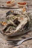 Часть душистых зажаренных в духовке рыб Стоковые Изображения RF