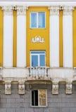 Часть фасада старинного здания Стоковая Фотография
