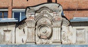 Часть фасада старого дома Стоковые Изображения RF