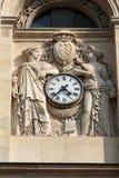Часть фасада Chapelle de Ла Sorbonne в Париже Стоковая Фотография