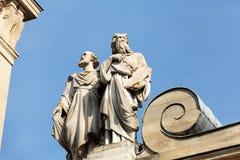 Часть фасада Chapelle de Ла Sorbonne в Париже Стоковые Фото