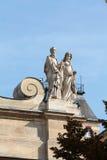 Часть фасада Chapelle de Ла Sorbonne в Париже Стоковое Изображение RF