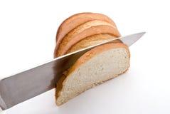 часть хлеба knifing Стоковое Изображение RF