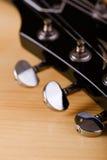 Часть черной головы гитары Стоковые Фото