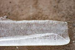Часть чистого льда улицы стоковые фото