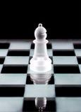 Часть шахмат епископа над чернотой Стоковое Изображение