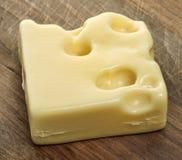 Часть швейцарского сыра стоковое изображение rf