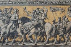 Часть шествия принцев, Dresd панели фарфора стоковое фото