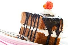 часть шоколада торта Стоковые Фотографии RF