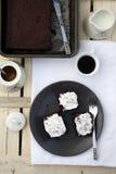 часть шоколада торта Стоковые Фото
