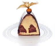 часть шоколада торта стоковая фотография rf
