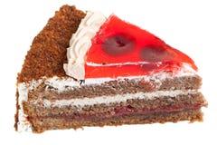 часть шоколада торта Стоковое Изображение