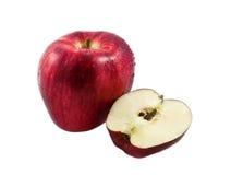 часть яблока свежая Стоковые Фото