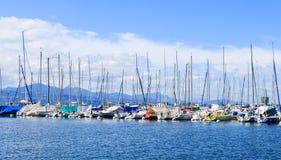 Часть яхт и шлюпок на порте Ouchy Стоковое Изображение