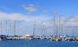 Часть яхт и шлюпок на порте Ouchy Стоковое Изображение RF