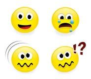 часть 2 emoticons смешная иллюстрация вектора