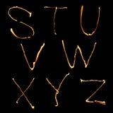 часть 3 алфавитов Стоковые Изображения RF