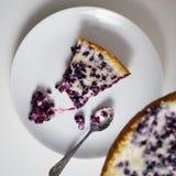 Часть bluberry пирога Стоковое Изображение