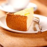 часть cheesecake Стоковое Фото