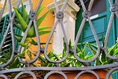 Часть elemen загородки металла декоративных/ornamental стальной заварки Стоковые Фотографии RF