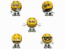 часть emoticon собрания 3 3d Стоковые Изображения