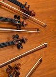 Часть fingerboard скрипки стоковые фото