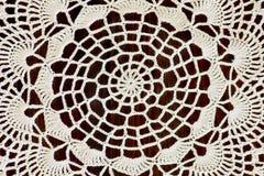 Часть handmade вязания крючком цвета слоновой кости Стоковые Изображения RF