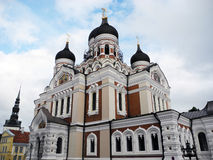 часть nevsky tallinn стран собора Александра прибалтийская Стоковая Фотография