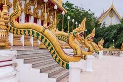 Часть nong wang wat змея, тайского виска Стоковые Фотографии RF