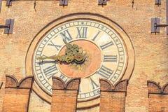 Часы башни болонья Стоковое фото RF